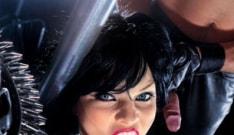 Lucy Love in vinyl gloves enjoys dungeon sex